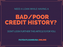 Need a loan while having a bad/poor credit history? Don't look further! This article is for You.